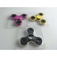Plafonnier en or Tri-Spinner Fidget spinner Chrome Spinner à main pour l'autisme et la rotation de TDAH Stress Relief Toys Liquidation Stock USA