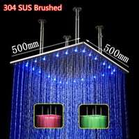 Wholesale Hydro Steel - 20 inch square hydro power color changing most powerful shower head