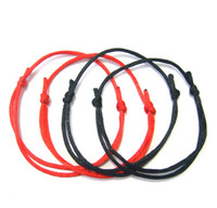 Wholesale String Kabbalah Lucky Bracelet - Free Shipping NEW 100Pcs DIY RED string LUCKY bracelet KABBALAH against EVIL eye SUCCESS luck