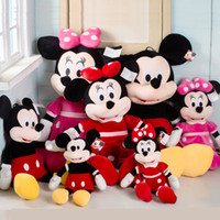 Wholesale Touch Dolls Toys - Mickey Mouse Plush Toy Minnie children sleep Baby Doll birthday gift 22CM Length Cute Lovely Movie Mouse Christmas New Year Party Soft Touch