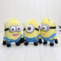 Wholesale Despicable 3d Eyes - 3pcs set Despicable ME Movie Plush Toy 18cm Jorge Stewart Dave Cute 3D eyes plush toys