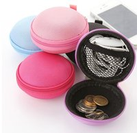 Wholesale Charm Storage - Colorsful Earphone Bag Earbud Headphone Carrying Bag Coin bag Storage Pouch Case Earphone Accessories Charms Storage