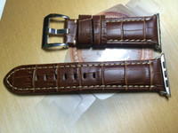 Wholesale Leather Watch Strap Italy - Handmade Italy Assolutamente Vintage Genuine Calf Leather Watch Strap for 42mm Iwatch Apple Watch Band