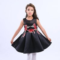 Wholesale Wholesaler Girls Clothing Manufacturers - Kids girls party dresses manufacturer lace perspective sleeveless Appliques embroider formal Pageant dresses kids baby boutique clothing