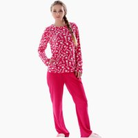 Wholesale Ladies Piece Pajama Set - Wholesale- 2016 Spring Women Plus Size Fleece 2 Pieces Sleepwear Pajama Set Lough Suit Nightwear Pyjama Set For Ladies
