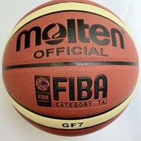 Wholesale Sports Indoors - Free Shipping Offical Molten Basketball GF7 Size 7 PU Basketball Ball Indoor Sports Training Ballon Wholesale