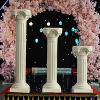 Wholesale Roman Supplies - 88cm tall PVC white roman pillar for wedding 8pcs lot