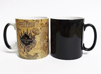 Wholesale Color Change Heat - Promotion Harry Potter Marauders Map Heat Reveal Mug Color Change Coffee Cup Sensitive Morphing Mugs Temperature Sensing gift