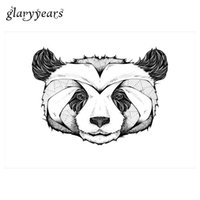 Wholesale Tattoo Paste Paper - Wholesale- 1 Sheet Waterproof Temporary Tattoo Sticker for Women KM-004 Grey Panda Head Decal Design Flower Arm Body Art Tattoo Paste Paper