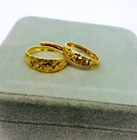 Wholesale Dragon Phoenix Rings - Fashion Gold Color Jewelry Dragon And Phoenix Couple Rings For Lovers Ajustable Open Engagement Rings Gift
