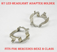 Wholesale Base Socket Adapter - 2PCS H7 LED Headlight Conversion Kit Bulb Metal Iron Base Holder Adapter Retainer Socket Clip For Mercedes Benz B Class Upgrade HID Halogen