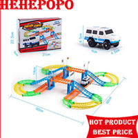 Wholesale 3d City Puzzles - Children's Puzzle Model Electric Assembling Track Railcar Double-Decker City Small Train Model 3D DIY Toys Varied Gameplay Gift
