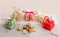 Wholesale Creative printed flower wedding candy box