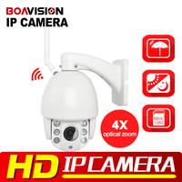 Wholesale Ptz Wireless Camera Indoor - HI3516C+SONY323 HD 1080P 960P Wifi PTZ Dome IP Camera 4X Zoom Auto Focus 2.8-12mm 2MP Outdoor Wireless IR Onvif SD Auido