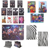 """Wholesale Hyundai Tablet Inch - Little Bear Leather Cases Avengers Pattern For Ipad LG Tablet PC 7"""" 10 Inch Universal Zebra-stripe Spider-man Holder Skin Cover Flip Stand"""
