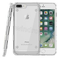 Wholesale Cheapest Iphone Hard Cases - For iPhone 8 8plus 7 7plus 6 i8 Hybrid Transparent Hard Back Colorful Bumper Case TPU + PC shockproof anti-shock protective Case cheapest