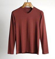 Wholesale Designer Fashion Tshirts - men t shirt long sleeve ~ men s luxury t shirt~designer t shirts tshirts for men