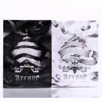 1 piezas Black / White Black Arcane Ellusionist Bicycle Poker Naipes Magic Paper Cards With Free Shipping