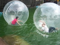 Wholesale Ball Walks Water - Clear 2m Inflatable Hamster Ball Inflatable Water Walking Ball Zorb Ball Water Balls Zorbing Balloon