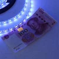 wasserdichte lila led-lichtstreifen großhandel-5M UV Ultraviolett LED Streifen Licht DC12V 5050 300Leds 60led / m UV lila wasserdicht IP65 LED Tap Ribbon String Licht