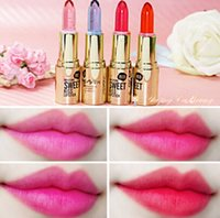 Wholesale Color Changing Cups Wholesale - Free Shipping-2017 Crystal jelly filling water moisturizing lipstick temperature change color lipstick lasting non-stick cup jelly lipstick