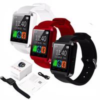 izci gps kol saati toptan satış-Bluetooth Smart İzle U8 Spor Izci Bilek Smartwatch iPhone XS MAX 8 7 Artı IOS Android Telefon Samsung S9 8 Artı Akıllı telefonlar