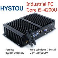 Wholesale China Aluminum Cases - Rugged Computer Aluminum Alloy case Intel Core i5 4200U Fanless embeded Computer PC With Gigabit LAN HDMI VGA 300M WiFi Antennas