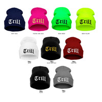 Wholesale Cool Beanie Colors - fashion Trill kniting ski POPULAR BEANIE SKULLS WOMEN MEN HOT HATS slouch cool thin chic spring winter sport Boy caps 18 colors