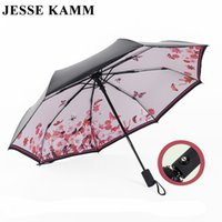 Atacado- JESSE KAMM Hot Sale Novo totalmente automático Anti-UV para mulheres Gift Fashion 24 meses de garantia Windproof Sun Rain Ladies Umbrellas