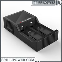 Wholesale Wholesale Battery Usb Plug - Brillipower 2 Slots Dual For 18650 Charger Charging 3.7V Rechargeable Li-Ion Battery Charger US EU UK Plug lcd usb charger for brillipower