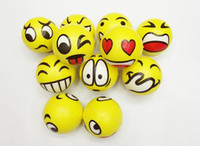 Multicolor sports face paint - Emoji Face QQ Expression Ball cm Children Face QQ Hand Painted Porcelain Emotional Holiday gifts