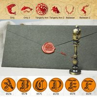 Wholesale Paint Stamps - Wholesale- Sealing Wax Stamp Set Kit Crafts European Retro Paint Fire Seal Assassin's Creed Game of Thrones Many Patterns Letter Tool