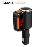 All'ingrosso-SMALL-EYE Vivavoce Bluetooth FM Transmitter Kit Car Charger MP3 Player Display a LED doppia porta USB accendisigari 8118