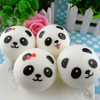 Wholesale Squishy Buns Mobile Charm - 30pc 10cm Panda Mobile Phone Straps Squishy Kawaii Buns Bread Charms Key Chain Key Bag for Cell Phone Emotional venting tool