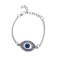 Wholesale blue evil eye charm - New Crystal Horus Evil Eyes Bracelet Blue Eyes Charm Fashion Jewelry for Women Gift Drop Shipping