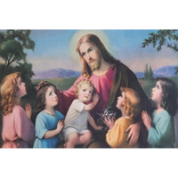 Wholesale Painting Jesus Christ - Jesus Christ Children DIY Diamond Painting Embroidery 5D Cross Stitch Crystal Square Unfinish Home Bedroom Wall Art Decor Craft Gift