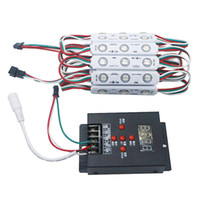 led ışıklar ücretsiz toptan satış-WS2811 2811 IC 3led 5050 RGB LED Piksel Dijital Modül Dize Işık Su Geçirmez DC 12 V + 1 adet Ücretsiz T-500 Tam Renk Kontrolörü
