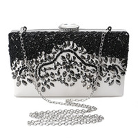 Wholesale clutch frame purse - 2017 White Clutch Women Diamonds Evening Bags Messenger Shoulder Chain Handbags with Acrylic Purse Luxurious Top Wallet A069