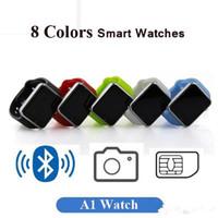 ingrosso i migliori prezzi delle telecamere-Vendita calda A1 Smart Watch Smartwatches Miglior prezzo Bluetooth Mens Womens Smart orologi Mobile con fotocamera per smartphone Android Smartwatch