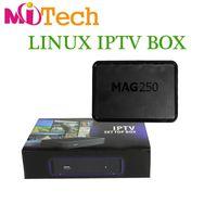 Wholesale Iptv Set Top - DHL free Streaming Mag250 Linux System IPTV Set Top Box Processor STi7105 RAM 256Mb Top Quality IPTV BOX MAG 250 Like Mag 254