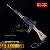 Playerunknowns Battlegrounds Keychain PUBG Portachiavi Pot Metallo Fashion Car Armi modello ornamenti Pistola giocattolo ornamenti S12K