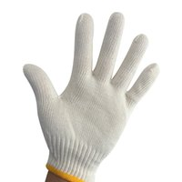 Wholesale Gloves For Wholesale Yellow - Yellow edge Safety Work Gloves Cotton Comfortable Breathable Wear-resisting Non-slip Gloves for Workers Safely Security Working