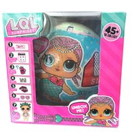 Wholesale Models Cartoon - Brand New LOL SURPRISE DOLL with packing Dolls Dress Up Toys baby Tear open change egg dolls can spray toys Christmas Gift