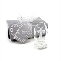 Wholesale first communion gifts resale online - Wedding Favors and Gifts Crystal Cross Standing Baby Christening Gifts Baby Shower Favors First Communion Gifts S2017381