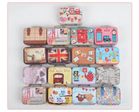 Wholesale Favor Tins Free Shipping - Free Shipping + Wholesale suitcase shape candy storage box wedding favor tin box cable organizer container wen4438