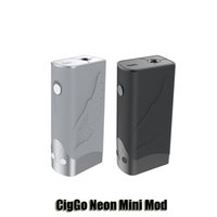 Wholesale Display Tattoo - 100% Original CIGGO Neon Mini Tattoo Box Mod VW TC 75W 18650 Battery Mod With Full Length LED Display
