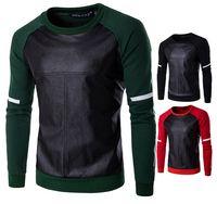 Wholesale Leather Hoodie Shirts - 2017 new grasping hair sets head fight leather jacket head Men's Hoodies & Sweatshirts cross printed T shirt XD030