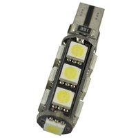 automotive led lights großhandel-100X T10 5smd 5050 CANBUS auto führte T10 canbus w5w 194 fehlerfreie automobil glühbirne lampe