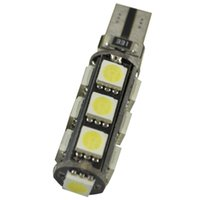Wholesale Automotive White Led Bulbs - 100X T10 5smd 5050 CANBUS car led T10 canbus w5w 194 error free automotive light bulb lamp