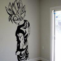 Wholesale Vinyl Dragon - Super Saiyan Goku Vinyl Wall Decal - Dragon Ball Z, DBZ Anime Wall Art, Sticker Diamond Level